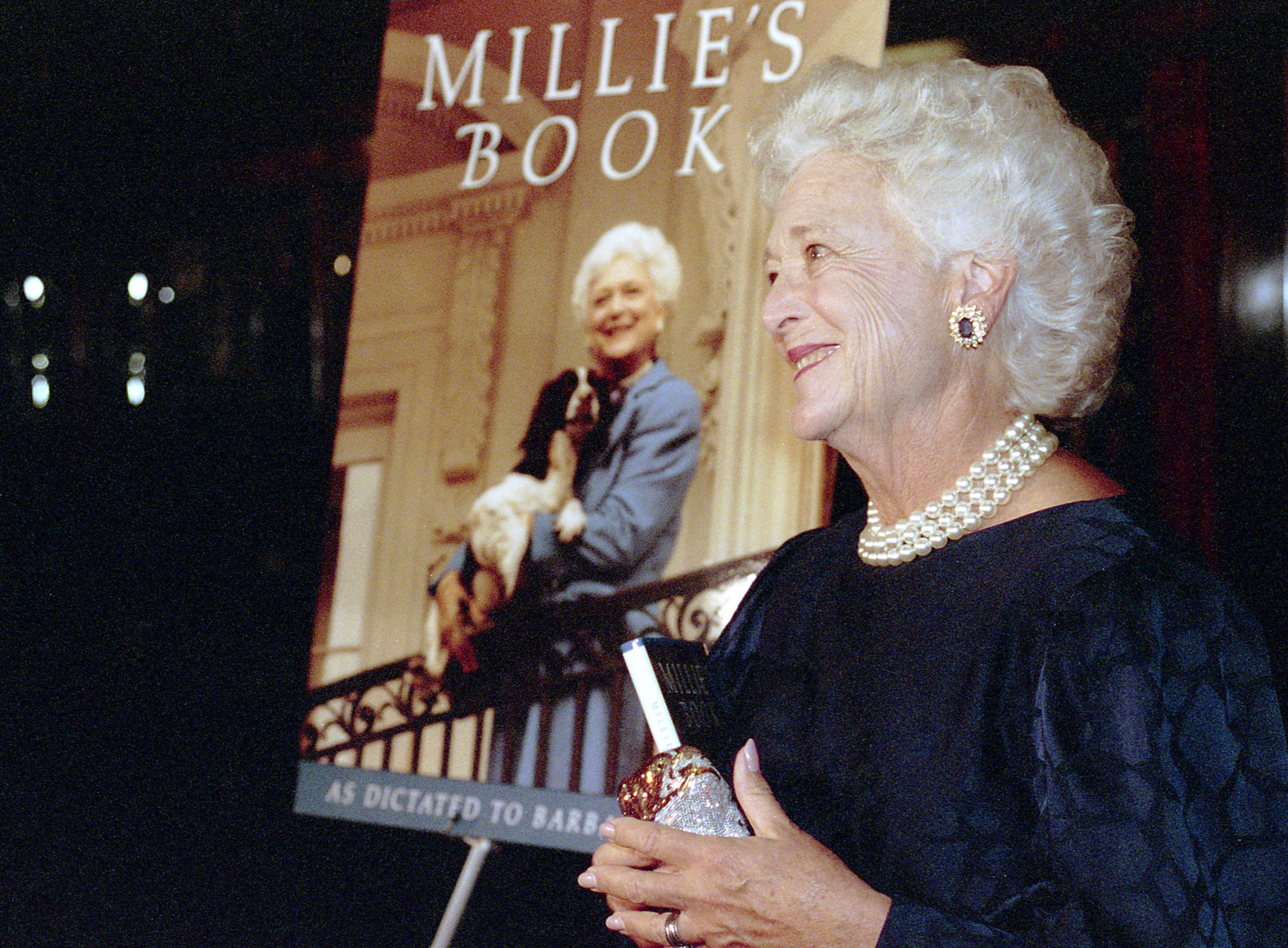 Mrs.Bush at the opening celebration for Millie's Book
